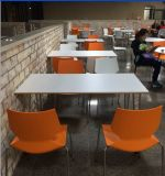 Tabelas e cadeiras quentes da cafetaria do aço inoxidável da venda do projeto moderno