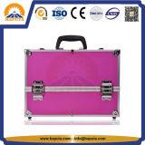 Caja de maquillaje cosmética de aluminio de encargo de la belleza (HB-1201)