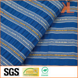 Do poliéster de matéria têxtil flama Home inerente - tela listrada azul à prova de fogo retardadora do sofá