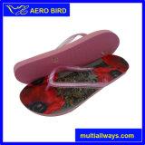 プリントストラップ付きPE合成アッパー女性の靴