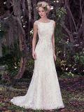 Vestido de casamento Backless S201763 do laço dos vestidos 2017 formais nupciais Sleeveless