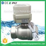 Ce IP67 2 valvola a sfera motorizzata elettrica dell'acciaio inossidabile Dn50 Cr2 02 bidirezionali di pollice