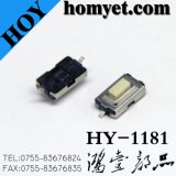 Interruttore di tatto di alta qualità 3*6*2.5mm con 2pin SMD (HY-1181P)