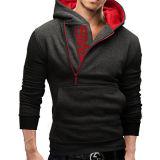 2016 i ultimi disegni del maglione per il pullover incappucciato della chiusura lampo degli uomini
