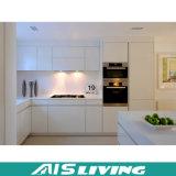 주문품 백색 L 모양 PVC 부엌 찬장 가구 (AIS-K085)