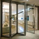Puerta Bifold de aluminio de lujo de Feelingtop para el edificio