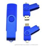 Disco instantâneo do USB do giro colorido feito sob encomenda de OTG para o presente