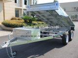 10X5 hete Ondergedompelde Gegalvaniseerde Op zwaar werk berekende Hydraulische Tippende Aanhangwagen