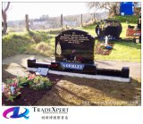 Геометрии гранита Китая Gravestones черной чистосердечные для кладбища