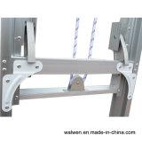 Oberste sichere Extensions-Aluminiumstrichleiter mit Beweglichkeits-Seil-&Flexible Riemenscheibe