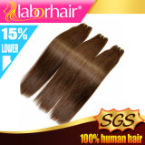 Покрасьте волос Remy человека #4 прямо 100% Weft