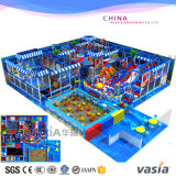 Комплект спортивной площадки скольжения парка атракционов лабиринта детей крытый пластичный
