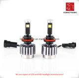 Luz do carro do diodo emissor de luz do farol H8 do diodo emissor de luz com ventilador