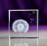 Оптически кубик кристаллический стекла K9, кристаллический размер стеклянного блока по-разному