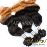 Волосы Remy черноты волос Fdx Two-Tone & цвета Brown малайзийские людские