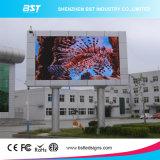 Luminance élevée imperméable à l'eau polychrome de panneau-réclame de la publicité extérieure DEL Digital de la déclaration provisoire P8 RVB SMD