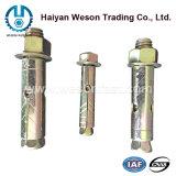 Ancre galvanisée de cale de jaune d'acier du carbone M10*100