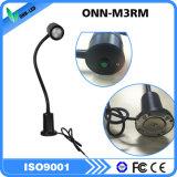 Dispositivo de iluminación de la máquina del CNC de 110 voltios con la base del imán/la luz del trabajo del cuello del ganso