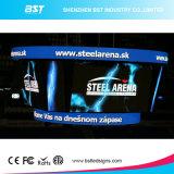 P3 a todo color curvado pantallas LED para instalaciones fijas