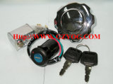 Motorini completi Suzuki Gn125 En125 Ax100 Honda Gl150 Cgl150 di accensione della serratura dei pezzi di ricambio del motociclo di Yog dell'interruttore di chiave della protezione stabilita stabilita Cg150 Gy6-125 del serbatoio di combustibile