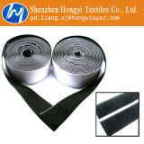 Velcro auto-adhésif de bande arrière collante noire