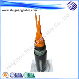 방연제 PVC Insulation와 Sheath Non-Armored Control Cable