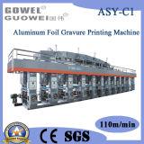 Papel de aluminio del ordenador de control 8 de plástico de color máquina de impresión (papel, pegando la máquina)