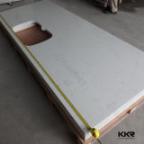 Countertop кварца ледника камня кварца ванной комнаты белый