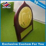 Premio del metallo dell'oro che lancia i regali di legno del premio del ricordo della Comunità della piastra