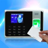 Посещаемость времени фингерпринта и стержень контроля допуска с читателем карточки удостоверения личности (T8-A)