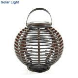 Luz solar de la linterna con la vela LED