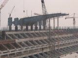 Corte del edificio de acero/de la estructura de acero/de los estadios