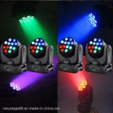 12X10W 크리 사람 쿼드 LED 광속 이동하는 맨 위 선잠기 장비