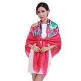 Heißer Verkauf gedruckter großer quadratischer Schal mit multi Farben