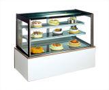 Sixe diferente pode ser Showcase de vidro Right-Angle do bolo da porta da opção