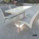 Подгонянная искусственная мраморный таблица/искусственная каменная обедая таблица
