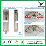 Цветастое печатание складывая пластичный вентилятор руки как выдвиженческий подарок