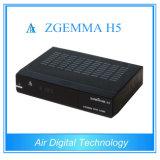 H. 265 decodificador de transmissão DVB S2 DVB T2/C do equipamento com IPTV Zgemma H5