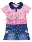 女の子の綿の服着るフラワー・ガールのまたは子供または子供の摩耗