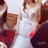3D blüht Hochzeits-Kleid-blosser Organza-Tulle-Brauthochzeits-Kleid 2017 Wd052