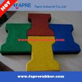 Pavimentadora de azulejos de goma de bloqueo / hueso de perro Estable Pavimentadora de goma.