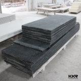 Superficie solida nera di pietra artificiale di Corian per il controsoffitto