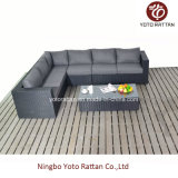 Long nero Corner Sofa per Outdoor (1302)