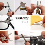 Svizzero Tech Polished Keychain Tool Auto Camping Hardware 6 in 1 Utility EDC Key Multitool