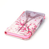 iPhone6 6s Colored DrawingのためのPU Leather Case Wallet Filp Cover