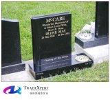 Headstone dritto di stile americano del granito della natura di disegno del cliente per il memoriale