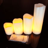 Christmas를 위한 형식 Remote Flameless LED Paraffin Wax Candle