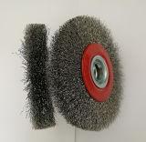 5 pulgadas de alambre de acero de la rueda de cepillo circular Cepillo para Grinder (YY-639)