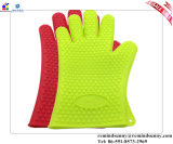 Guantes a prueba de calor del Bbq del guante colorido del silicón