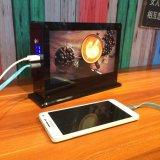 Frame de retrato do diodo emissor de luz e banco da potência do menu com bateria a mais grande 40000mAh